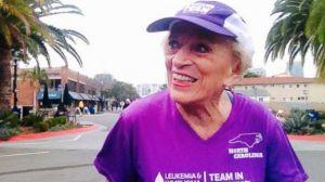 Harriette Thompson, 91, from Charlotte, N.C.